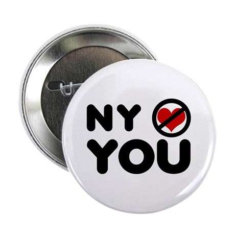 "NY No Love 2.25"" Button"