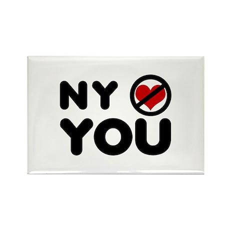 NY No Love Rectangle Magnet