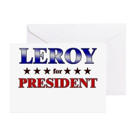 LEROY for president Greeting Cards (Pk of 20)