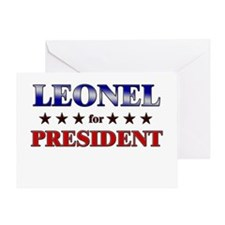 LEONEL for president Greeting Card