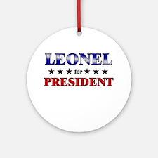 LEONEL for president Ornament (Round)