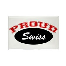 Proud Swiss Rectangle Magnet