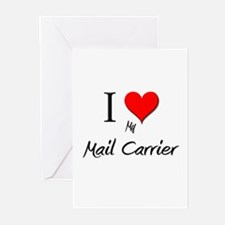 I Love My Mail Carrier Greeting Cards (Pk of 10)