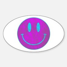 Happy FACE Turq EYES Decal