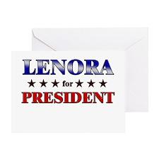 LENORA for president Greeting Card