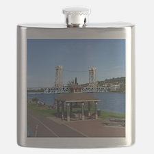 Portage Lake Bridge Flask