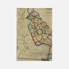 Cool Georgia map Rectangle Magnet