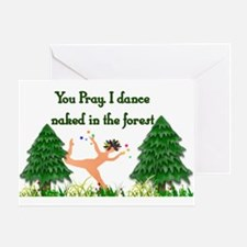 Naked Pagan Greeting Card
