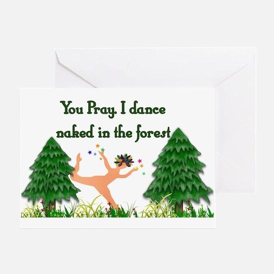 Naked Pagan Greeting Card