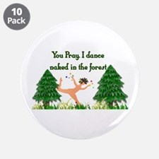 """Naked Pagan 3.5"""" Button (10 pack)"""
