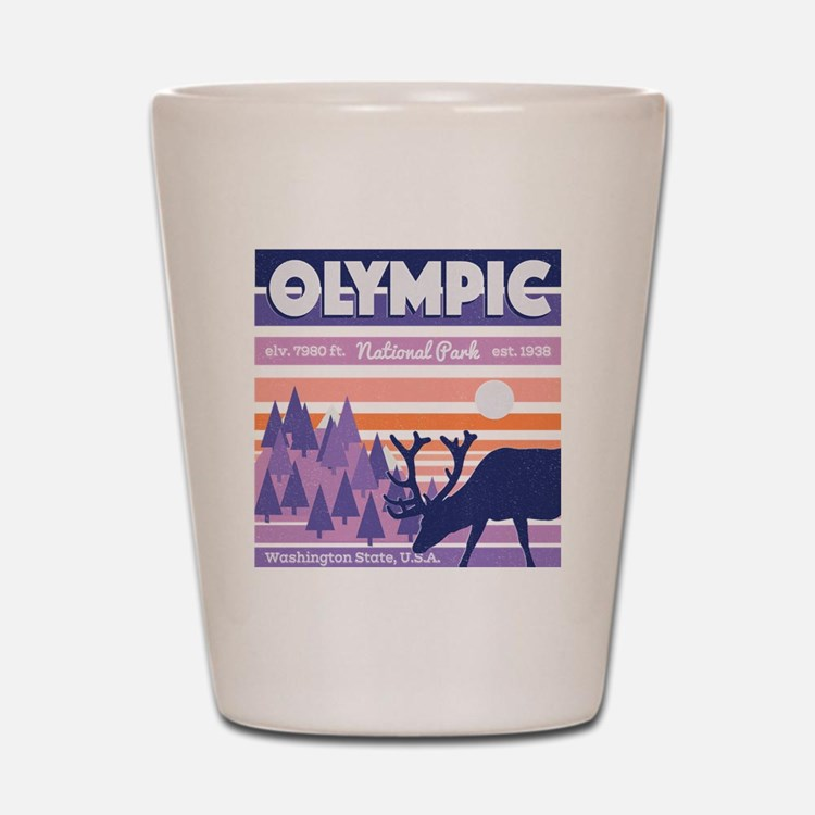 Cute Olympic national park Shot Glass