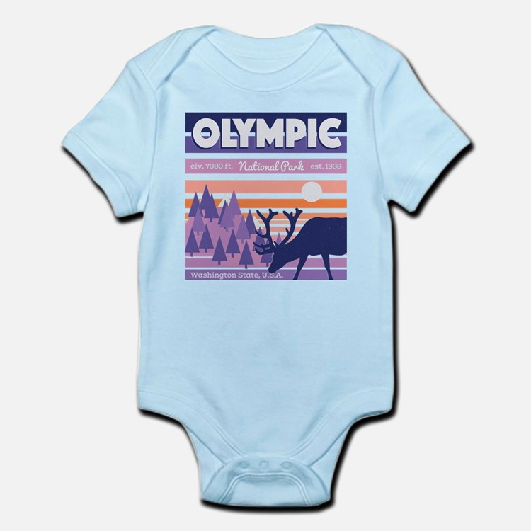 Olympic National Park Sunset Mountain Sk Body Suit