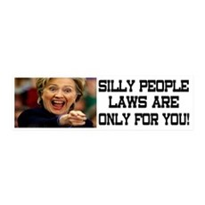 SILLY PEOPLE LAWS ARE ONLY FOR YOU! Wall Decal