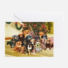A Dachshund Family Christmas Greeting Cards (Pk of