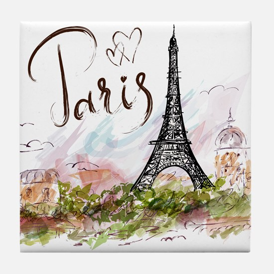 Paris Tile Coaster