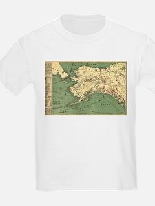 Alaska - (1897) - Panoramic Map T-Shirt