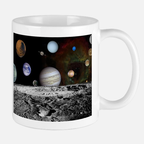 Solar System Montage of Voyager Images Mugs