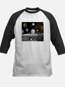 Solar System Montage of Voyager Images Baseball Je