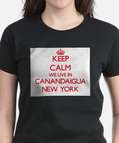 Keep calm we live in Canandaigua New York T-Shirt