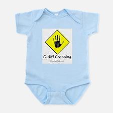 C. diff Crossing Sign 02 Infant Bodysuit