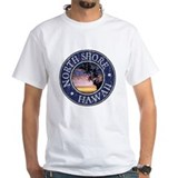 Island shores Mens White T-shirts