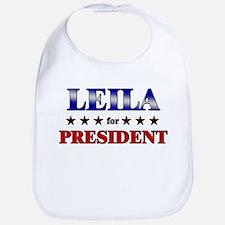 LEILA for president Bib