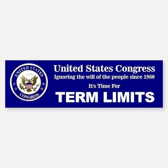 Congressional Term Limits Sticker (Bumper)