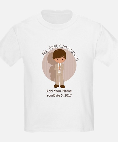 First Communion Brown Hair T-Shirt