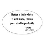 Plato 16 Oval Sticker