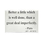 Plato 16 Rectangle Magnet