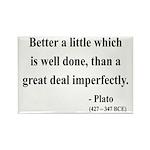 Plato 16 Rectangle Magnet (10 pack)
