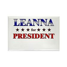 LEANNA for president Rectangle Magnet