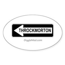 Throckmorton Sign Oval Decal
