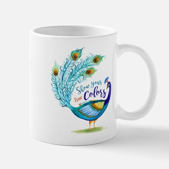 Show your true Colors Peacock Mugs