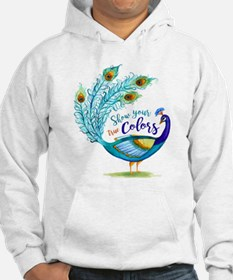 Show your true Colors Peacock Hoodie