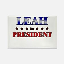 LEAH for president Rectangle Magnet