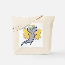 Cat Angel Tote Bag