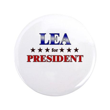"LEA for president 3.5"" Button"