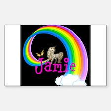 Unicorn rainbow personalize Decal