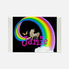 Unicorn rainbow personalize Magnets