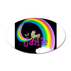 Unicorn rainbow personalize Wall Decal