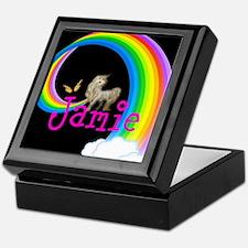 Unicorn rainbow personalize Keepsake Box