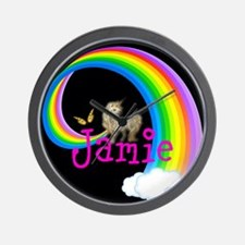Unicorn rainbow personalize Wall Clock