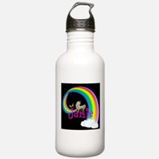 Unicorn rainbow personalize Water Bottle