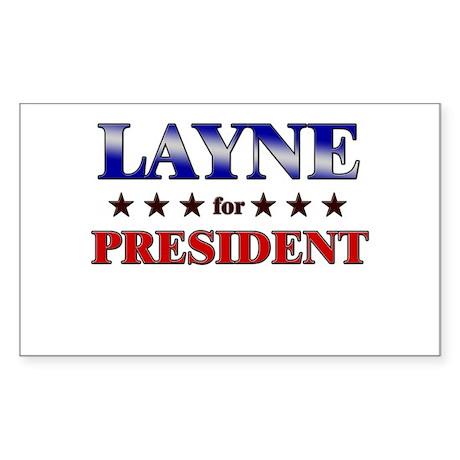 LAYNE for president Rectangle Sticker