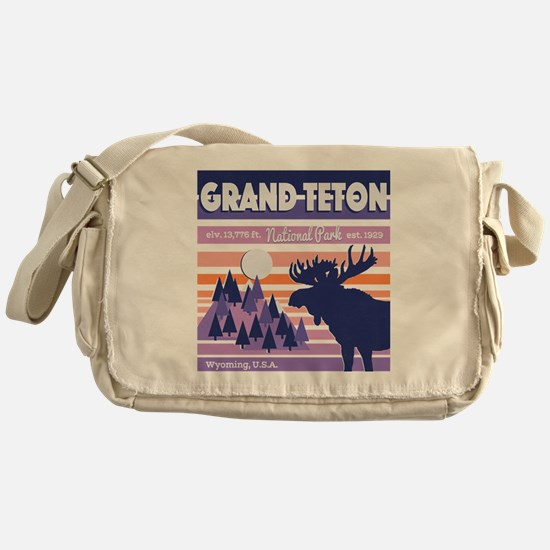 Cute Grand tetons Messenger Bag