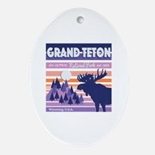 Cute Tetons Oval Ornament