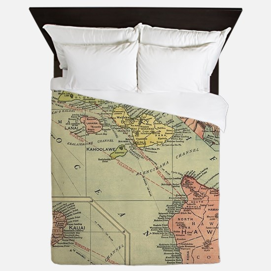 Cute Vintage hawaiian Queen Duvet