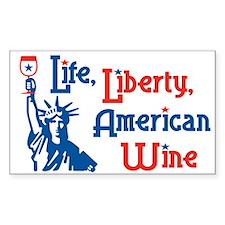 Life Liberty Wine Rectangle Decal