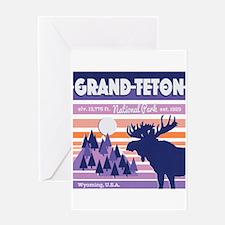 Grand Teton Mountain Moose Beautifu Greeting Cards